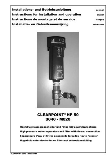 CLEARPOINT® HP 50 S040 - M020 - BEKO TECHNOLOGIES GmbH