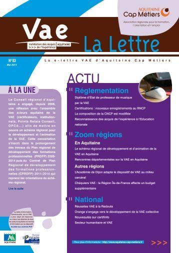 La Lettre VAE n°83 - Univ-provence
