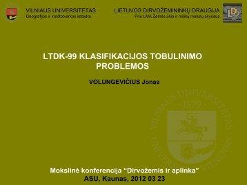 ltdk-99 klasifikacijos tobulinimo problemos - Vilniaus universitetas