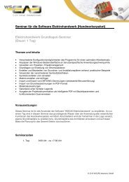 Seminar für die Software Elektrohandwerk (Handwerkerpaket) - wscad