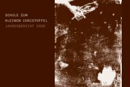 Jahresbericht Christoffelschule 2005