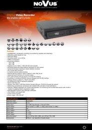 Digital Video Recorder NV-DVR5116(S)/DVD
