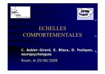 ECHELLES COMPORTEMENTALES - CHU de Rouen
