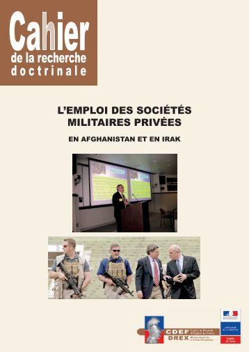 l'emploi des sociétés militaires privées - Anciens du RICM