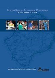2007 / 2008 - Lesotho National Development Corporation