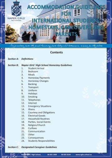 Accommodation Guidelines - Napier Girls' High School
