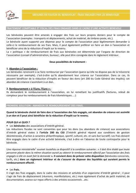 Reçu Fiscal Benevole Frais Engages Cerfa 11580 03 Pdf