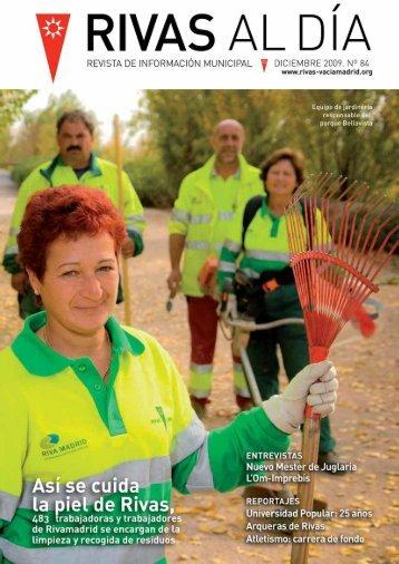 rd nº 84 diciembre 2009 pdf - Ayuntamiento Rivas Vaciamadrid