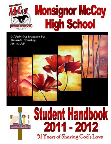 2011- 2012 Student Handbook - McCoy High School
