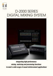 D-2000 SERIES DIGITAL MIXING SYSTEM