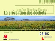 La prévention des déchets - Crioc