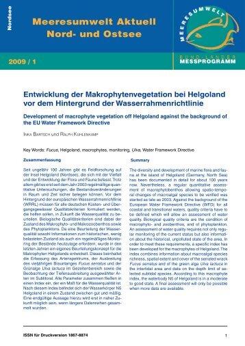Entwicklung der Makrophytenvegetation bei ... - BLMP Online