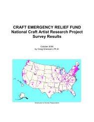 CRAFT EMERGENCY RELIEF FUND National Craft Artist Research ...