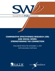 Final Report - Social Work Policy Institute
