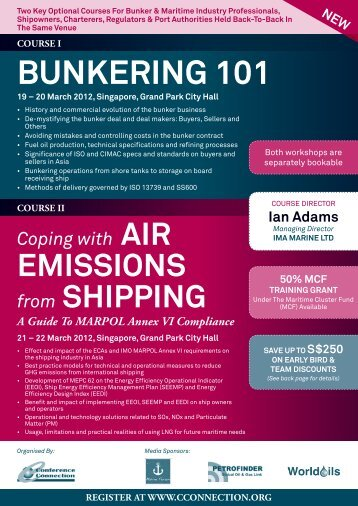 course i bunkering 101 - The Conference Connection Group