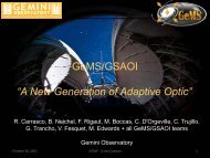 "GeMS/GSAOI ""A New Generation of Adaptive Optic"""