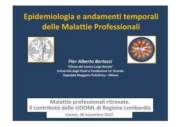 Epidemiologia e andamenti temporali delle Malattie Professionali