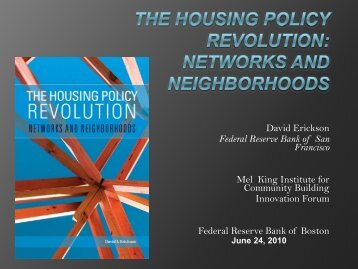 Housing Policy Revolution: Networks and Neighborhoods