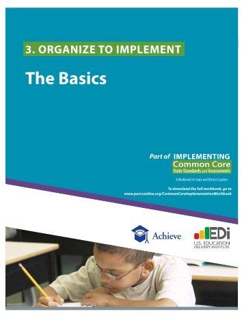 Organize to Implement - PARCC