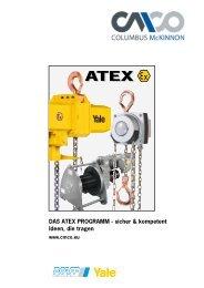 DAS ATEX PROGRAMM - sicher & kompetent Ideen, die tragen