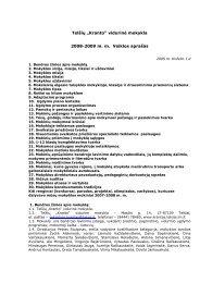 """Telšių """"Kranto"""" vidurin÷ mokykla 2008-2009 m. m. Veiklos aprašas"""