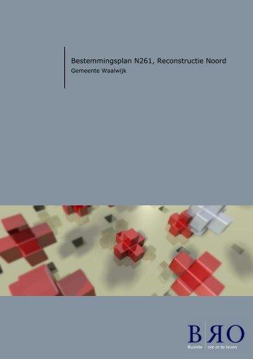 Bestemmingsplan N261, Reconstructie Noord - Provincie Noord ...