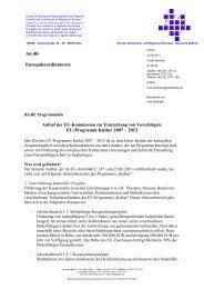 EU-Programm Kultur 2007 - Europa Aktuell