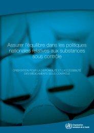 Assurer l'équilibre dans les politiques nationales ... - libdoc.who.int