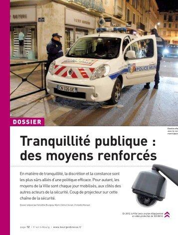 Tranquillité publique : des moyens renforcés (.pdf ... - Bourg-en-Bresse