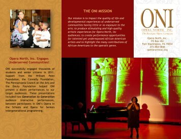 View our 2011 Annual Report - Opera North
