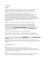 CV - Institutionen för arkeologi och antik historia