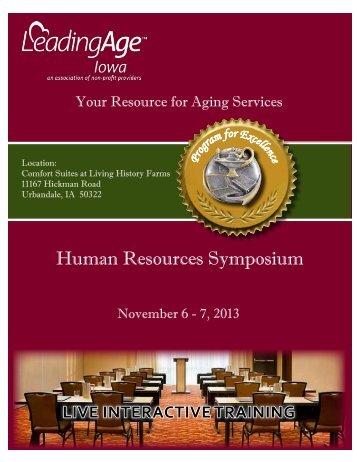 Human Resources Symposium - Iowa Association of Homes ...