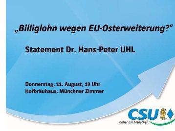 """""""Billiglohn wegen EU-Osterweiterung?"""" - gbcms.de"""