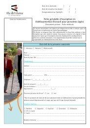 Fiche préalable d'inscription en établissement(s) d'accueil pour ...