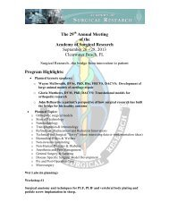 The 29 Annual Meeting of the Academy of Surgical Research ...