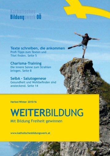 Weiterbildungs-Programm Herbst/Winter 2015/2016