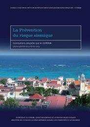 La Prévention du risque sismique - Ministère du Développement ...