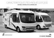 CARACTERISTIQUES TECHNIQUES 2011 / 2012 - Eura Mobil
