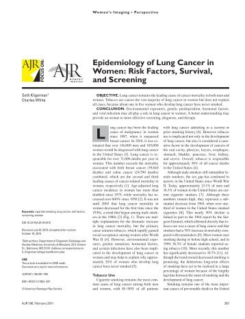 effective ways to address the global epidemic of lung cancer