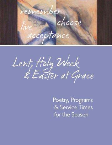 Poetry, Programs & Service Times for the Season - Grace Episcopal ...