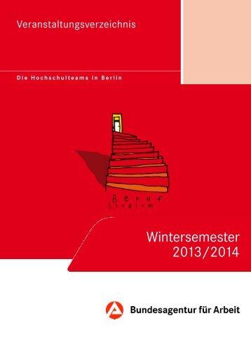 Wintersemester 2013/2014 - Bundesagentur für Arbeit