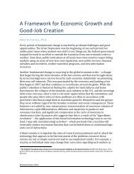A Framework for Economic Growth and Good-‐Job Creation