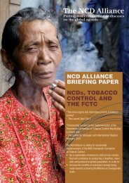 NCD AlliANCe BriefiNg PAPer NCDs, ToBACCo CoNTrol AND The ...