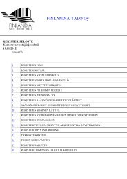 Kameravalvontajärjestelmän rekisteriseloste (PDF ... - Finlandia-talo