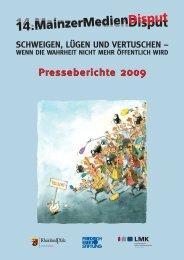 Presseberichte 2009_1 (Page 1) - MainzerMedienDisput
