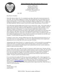 Dear Parent or Guardian, - Queen Bee Schools, District 16
