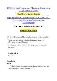 ECET 365 Lab 2 Temperature Measuring
