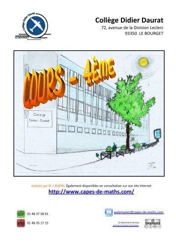 Collège Didier Daurat - CAPES de Maths