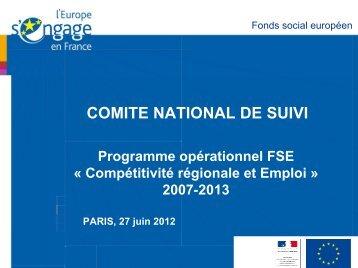 Etat d'avancement du programme - juin 2012 - Fonds Social ...
