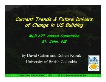 Current Trends & Future Drivers of Change in US Building